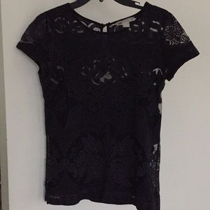 Banana republic black lace top